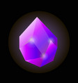 bright shiny uncut violet natural crystal isolated vector image
