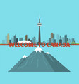 canada city creek mountain nature skyline peak vector image vector image