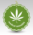 cannabis marijuana leaf stamp tag label vector image vector image