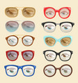 cartoon glasses face eyes cartoon eyeglass vector image vector image