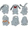 Clipart blue rabbits vector image