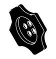 cogwheel clothes button icon simple style vector image