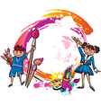 Colorful banner with children drawing vector image vector image