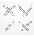 Combat crossed knife logo vector image vector image