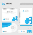company design calender dairy and stationary vector image vector image