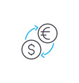 currency exchange thin line stroke icon vector image
