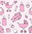 cute seamless pattern with childrens things for vector image vector image