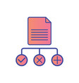 data regulation flat icon sign symbol vector image