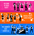 Disco Party Banners Set vector image vector image