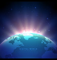 earth background with glowing light vector image vector image