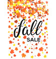 fall sale vertical lettering banner design vector image