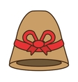 female hat elegant isolated icon vector image vector image