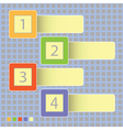 four progress icons vector image