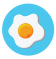 fried egg 01 vector image vector image