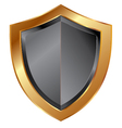 gold shield trim vector image vector image