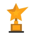 Golden star award on white vector image