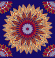 greek colorful floral seamless mandalas pattern vector image vector image