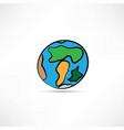 hand drawn earth vector image vector image