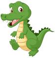 Happy cartoon crocodile vector image vector image