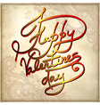 happy valentines day on grungy paper background vector image