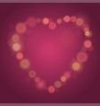 heart made from glow spots valentines day bokeh vector image