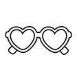 heart shape sunglasses black and white vector image