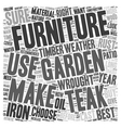 How to choose your garden furniture and make it vector image vector image