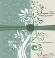 invitation cards damask blue vector image vector image