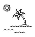 island with palm icon vector image vector image