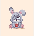 isolated Emoji character cartoon Gray leveret just vector image vector image
