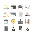 Justice Icons Set vector image vector image