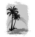 landscape with palms vector image vector image