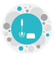 of hygiene symbol on toilet vector image vector image