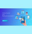 online doctor banner medical consultations vector image