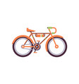 orange trekking bike modern bicycle vector image vector image