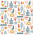 paper cut pieces trendy abstract shapes vector image vector image