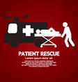 Patient Rescue Symbol vector image