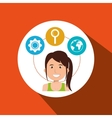 person with set business icon design vector image