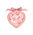 pink diamond jewelry vector image vector image