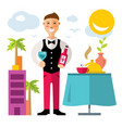 professional sommelier flat style colorful vector image vector image