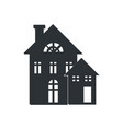 rural three storey building black silhouette icon vector image