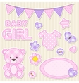 Scrapbook elements for girl vector image vector image