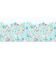 Seashells line art horizontal seamless pattern vector image vector image