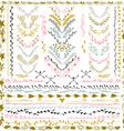 set floral design elements wedding vector image vector image