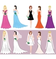 Set of different styles women dresses vector image