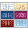 set of patterns with calendars of different vector image vector image