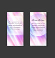set of posters with holographic foil background vector image