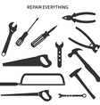 Set of repair tools vector image vector image