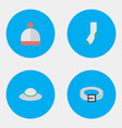 set of simple equipment icons vector image vector image