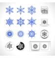 set of snowflake shapes vector image vector image